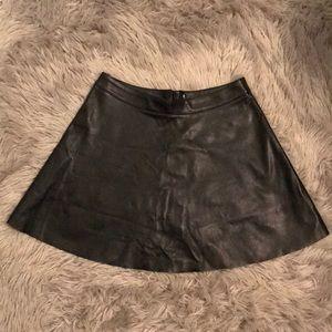 H&M Skater Faux Leather Skirt